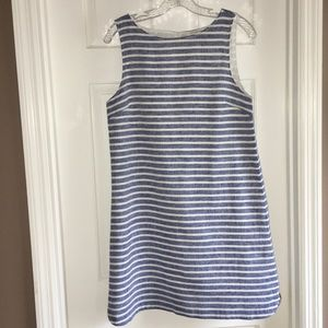 BeachLunchLounge blue and white linen blend dress